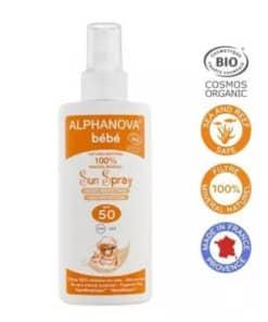 Alphanova solaire bio bébé 50 spray