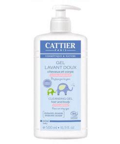 Gel lavant cheveux et corps bio Cattier Maroc