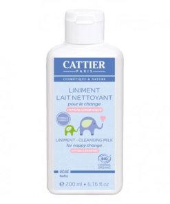 Liniment lait nettoyant bébé bio 200ml Cattier Maroc