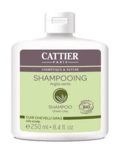 Shampoing à l'argile verte bio pour cuir chevelu gras Cattier Maroc