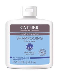 Shampoing antipellicullaire bio bois de saule Cattier Maroc