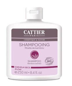 Shampoing moelle de bambou cheveux secs bio Cattier Maroc