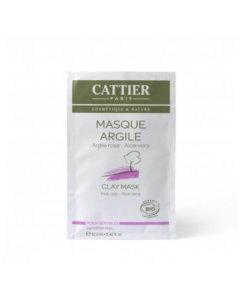 Masque argile rose unidose bio Cattier Maroc