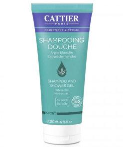 cattier shampoing douche argile blanche menthe bio homme