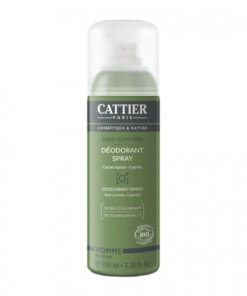 cattier déodorant spray homme safe control bio