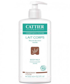 cattier lait corps beurre de coco vanille bio