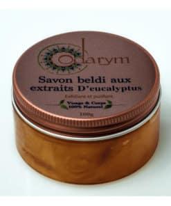 odarym - savon beldi noir aux extraits d'eucalyptus