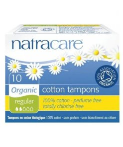 NATRACARE - tampons normal sans applicateurs x10