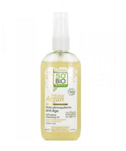 so bio huile demaquillante anti age précieux argan