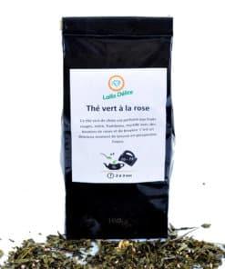 thé vert naturel à la rose